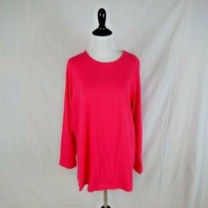 Woman Within Hot Pink Tee Shirt Size 14 / 16